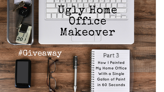 ugly home office makeover part 3 the new wall paint reveal beautiful life market - Office Makeover Contest