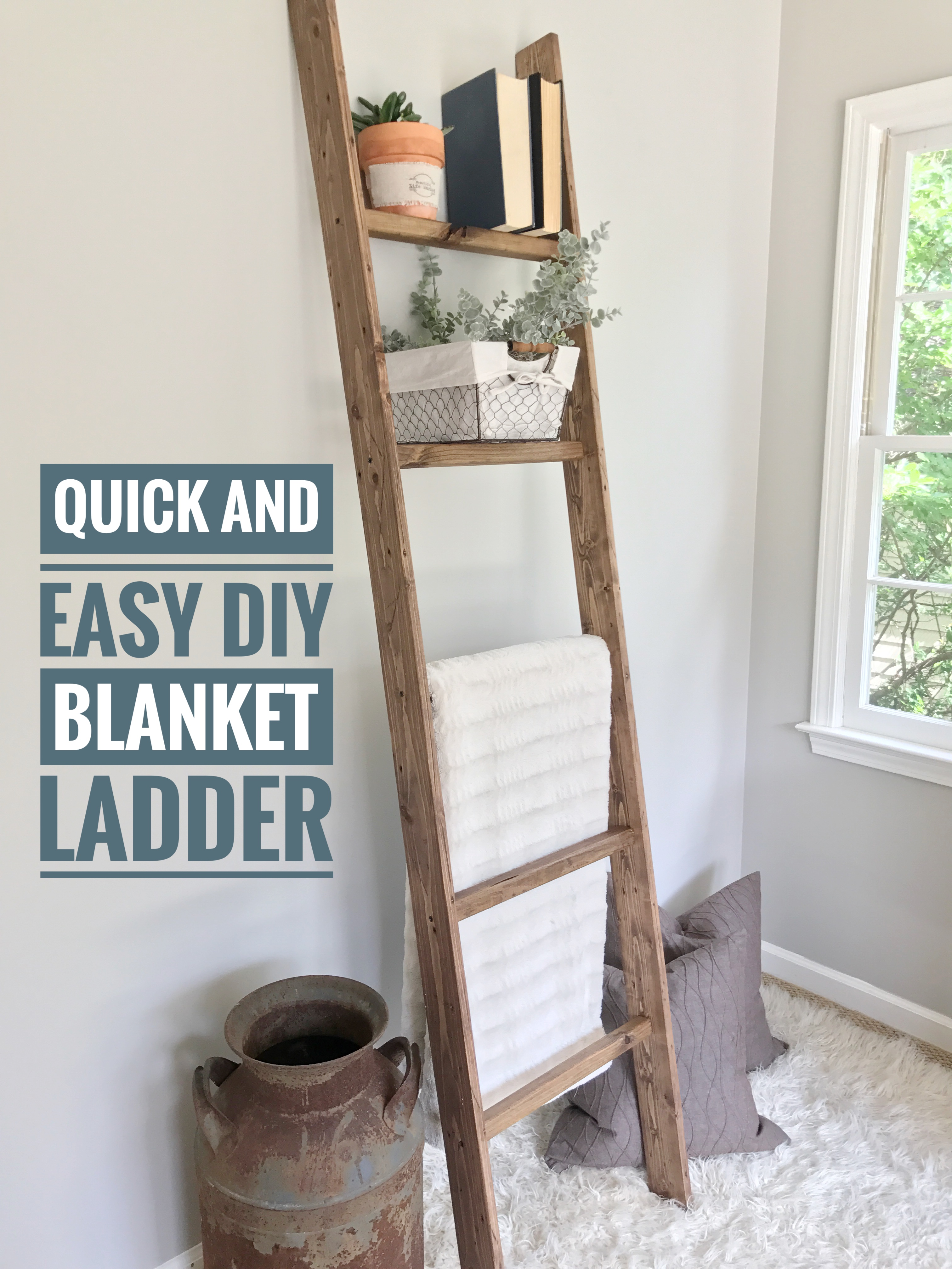 Ugly Home Office Makeover Part 8 A The Simple Diy Blanket Ladder Beautiful Life Market